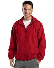 Sport-Tek® TJST73 Men Tall Hooded Raglan Jacket at GotApparel