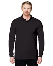 Tri-Mountain K020PLS Men Performance Vital Pocket Long Sleeve Polo Shirt at GotApparel