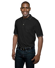 Tri-Mountain K097P Men Trace Pocket Knit Short Sleeve Golf Shirt at GotApparel