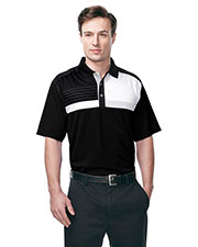 Tri-Mountain K109 Men Marquis Knit Short-Sleeve Golf Shirt at GotApparel