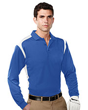 TRI-MOUNTAIN PERFORMANCE K145LS Men Blitz Long Sleeve Knit Shirt WithRib Cuff at GotApparel