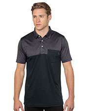 Tri-Mountain K211 Pocketed Colorblock Polo at GotApparel