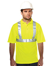 Tri-Mountain K222G Men's Boundary Polo Birdeye Short-Sleeve Shirt at GotApparel