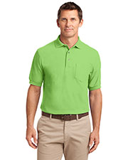 Port Authority K500P Men Silk Touch™ Polo with Pocket at GotApparel