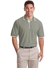 Port Authority K501 Men Silk Touch™ Polo with Stripe Trim at GotApparel