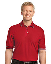 Port Authority K502 Men Silk Touch™ Tipped Polo at GotApparel
