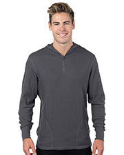 Tri-Mountain K599H Men Quarter-Zip Hooded Thermal at GotApparel