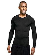 Tri-Mountain K604LS Men Gauntlet Crew Neck Long Sleeve Compression Shirt at GotApparel