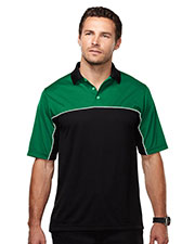 Tri-Mountain Racewear K908 Men Heel Toe Color Blocking Polo at GotApparel