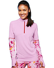 Duofold by Champion KDC3QP Women THERMatrix 1/4 Zip Printed Pullover at GotApparel