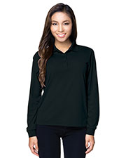 Tri-Mountain KL020LS Women Performance Vital Long Sleeve Polo Shirt at GotApparel
