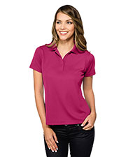 TRI-MOUNTAIN PERFORMANCE KL020 Women Vital Short Sleeve Polo Shirt at GotApparel