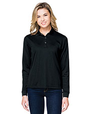 Tri-Mountain KL022LS Women's Vital Snap Long-Sleeve Polo at GotApparel