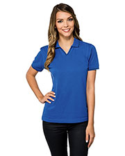 Tri-Mountain KL097 Women Trace Knit Short Sleeve Golf Shirt at GotApparel