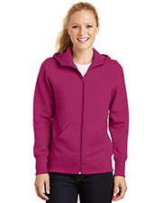 Sport-Tek L265 Women Full-Zip Hooded Fleece Jacket at GotApparel