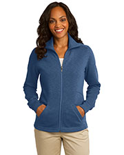 Port Authority L293 Women Slub Fleece Full Zip Jacket at GotApparel