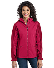 Port Authority L312 Women Gradient Hooded Soft Shell Jacket at GotApparel