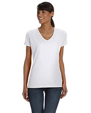 Fruit of the Loom L39VR Women 5 oz., 100% Heavy Cotton HD V-Neck TShirt at GotApparel