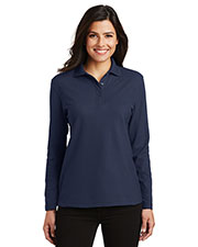 Port Authority L500LS Women Long-Sleeve Silk Touch Polo at GotApparel