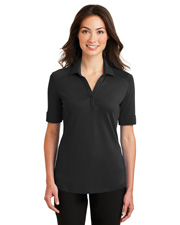 Port Authority L5200  ®  Ladies Silk Touch ™  Interlock Performance Polo. at GotApparel
