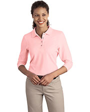 Port Authority L562 Women Silk Touch™ 3/4-Sleeve Polo at GotApparel