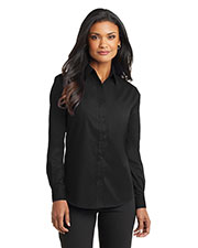 Port Authority L632 Women Long Sleeve Value Poplin Shirt at GotApparel
