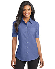 Port Authority L659 Women Short Sleeve SuperPro ™ Oxford Shirt at GotApparel