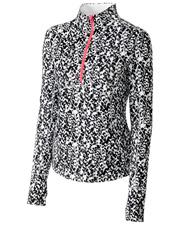 Cutter & Buck LAK06381  L/S Izaria Print Half Zip at GotApparel