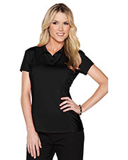 LILAC BLOOM LB027 Women Natalie Knit Short Sleeve Jersey Polo Shirt at GotApparel