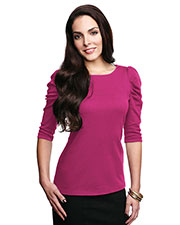 LILAC BLOOM LB132 Women Naomi 3/4 Sleeve Scoop Neck Pullover at GotApparel