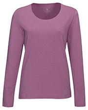 LILAC BLOOM LB135 Women Lauren Long Sleeve Crew Neck Tee at GotApparel