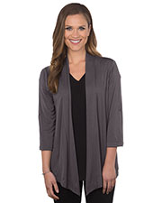 Tri-Mountain LB648 Women 3/4 Sleeve Knit Cardigan at GotApparel