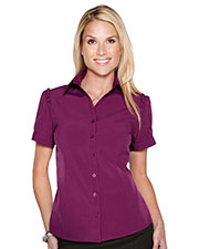 LILAC BLOOM LB752 Women Lily Short Sleeve Woven Shirt at GotApparel