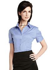 LILAC BLOOM LB755 Women Ashley Short Sleeve Woven Shirt at GotApparel