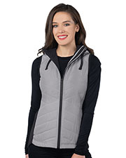 Tri-Mountain LB8252 Women Quilted Hooded Vest at GotApparel
