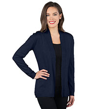 Tri-Mountain LB939 Women Rib Cardigan Sweater at GotApparel