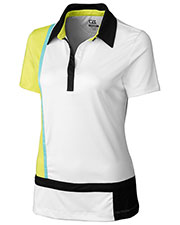 Cutter & Buck LCK02440 Women Drytec S/S Intersect Polo at GotApparel