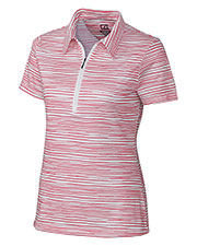 Cutter & Buck LCK02588 Women's DryTec Short-Sleeve Elle Printed Polo at GotApparel
