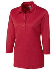 Cutter & Buck LCK02593 Women Drytec 3/4 Sleeve Chelan Polo at GotApparel