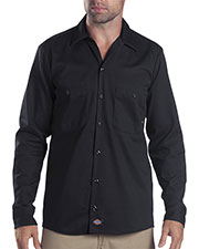 Dickies LL307T Men Tall Industrial Long-Sleeve Cotton Work Shirt at GotApparel