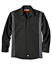 Dickies LL524 Unisex Industrial Color Block Long-Sleeve Shirt at GotApparel