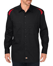 Dickies LL605T Men Tall Long-Sleeve Performance Team Shirt at GotApparel
