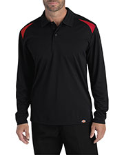 Dickies LL606 Men Long-Sleeve Performance Polo at GotApparel
