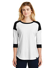 Custom Embroidered New Era LNEA104 Ladies Heritage Blend 3/4-Sleeve Baseball Raglan Tee at GotApparel