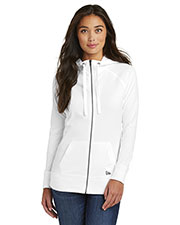 Custom Embroidered New Era LNEA122 Ladies Sueded Cotton Blend Full-Zip Hoodie at GotApparel