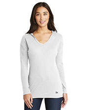 New Era LNEA131 Women ® Ladies Tri-Blend Performance Pullover Hoodie Tee. at GotApparel