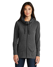Custom Embroidered New Era LNEA511 Ladies 7 oz Tri-Blend Fleece Full-Zip Hoodie at GotApparel