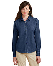 Port & Company LSP10 Women Long-Sleeve Value Denim Shirt at GotApparel