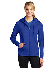 Sport-Tek LST238 Women SportWick Fleece Full Zip Hooded Jacket at GotApparel