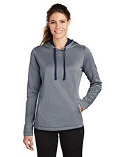 Sport-Tek LST264 Ladies PosiCharge Sport-Wick Heather Fleece Hooded Pullover at GotApparel